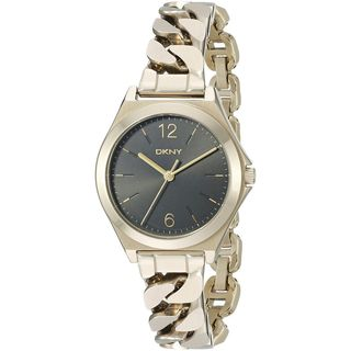 DKNY Women's NY2425 'Parsons' Gold-Tone Stainless Steel Watch