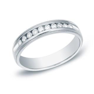 Auriya 14k Gold 1/4ct TDW Diamond Milgrain Wedding Band (H-I, SI1-SI2)
