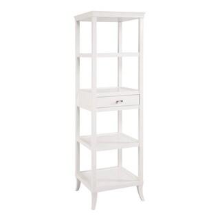 Tamara White Tower Shelves