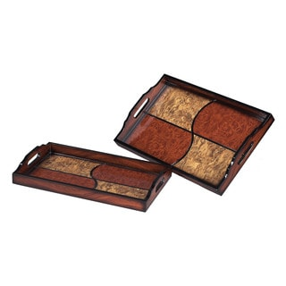 Sterling Quartered Trays (Set of 2)