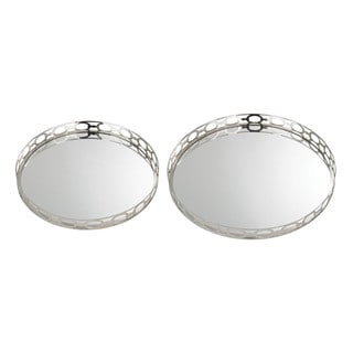 Sterling Mirrored Ring Tray (Set of 2)