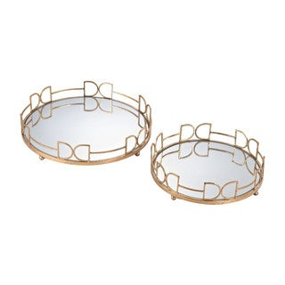 Sterling Snaffle Bit Mirrored Trays