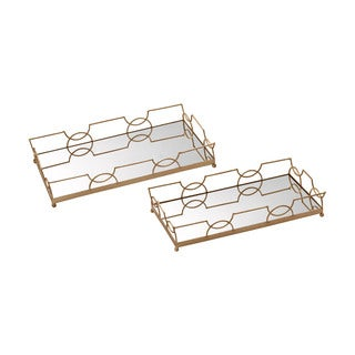 Sterling Bow Tie Mirrored Trays