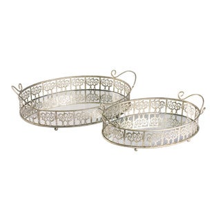 Sterling Lasko Mirror Trays (Set of 2)
