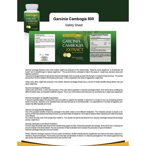 Shop Garcinia Cambogia 800mg Hca Natural Appetite Suppressant