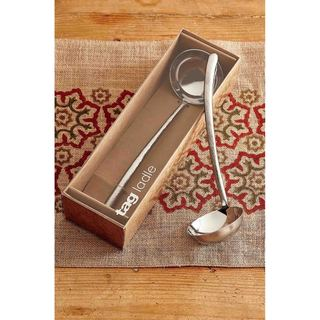 TAG Hammered Stainless Ladle, Silver