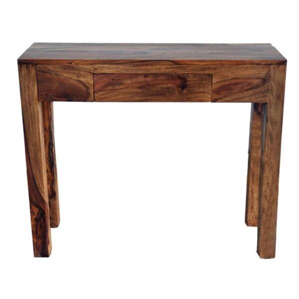 idris solid sheesham wood console table dark sheesham free shipping today. Black Bedroom Furniture Sets. Home Design Ideas