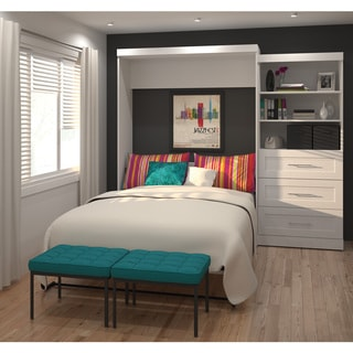 """Pur by Bestar 101"""" Queen Wall bed kit with three drawers"""