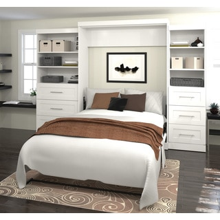 "Pur by Bestar 126"" Queen Wall bed kit with six drawers"