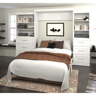 """Pur by Bestar 126"""" Queen Wall bed kit with six drawers"""