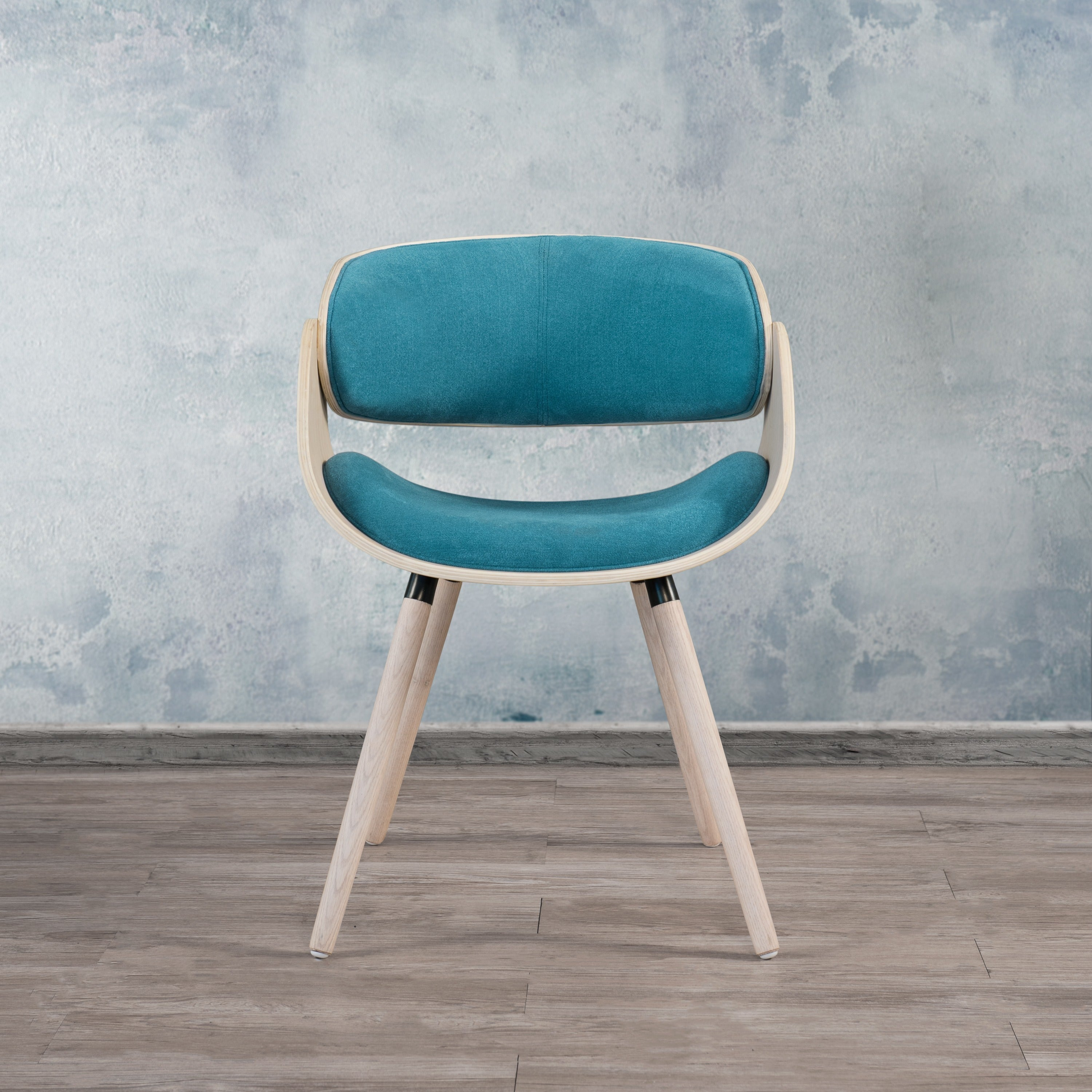 Corvus Mid-century Accent Chair (Turquoise), Blue (Bonded...