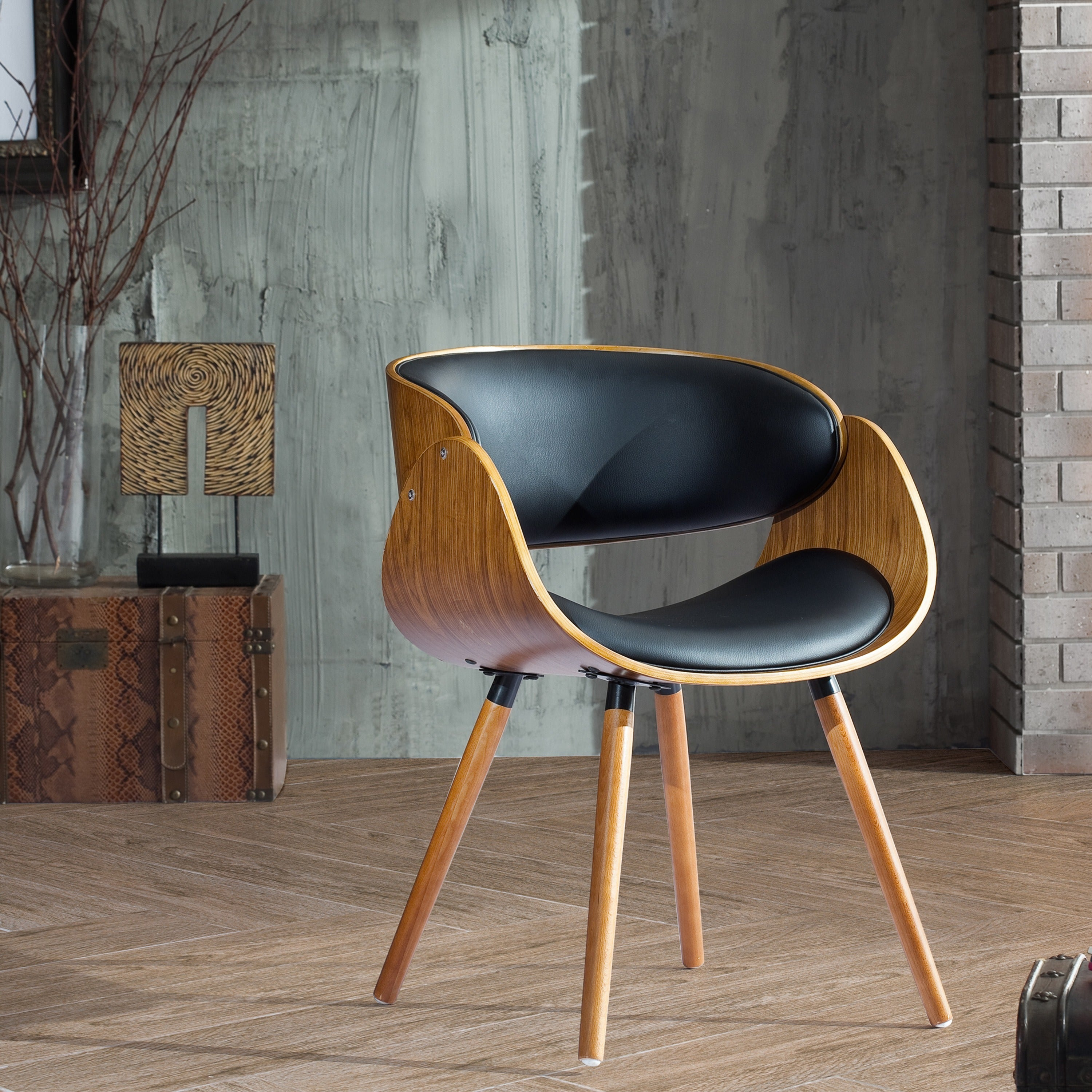 Shop Corvus Mid Century Modern Accent Chair Free