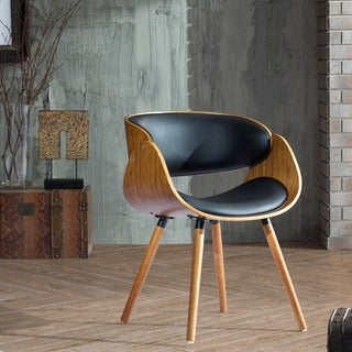 Corvus Peyton Bent Plywood Arm Chair with Wraparound Back