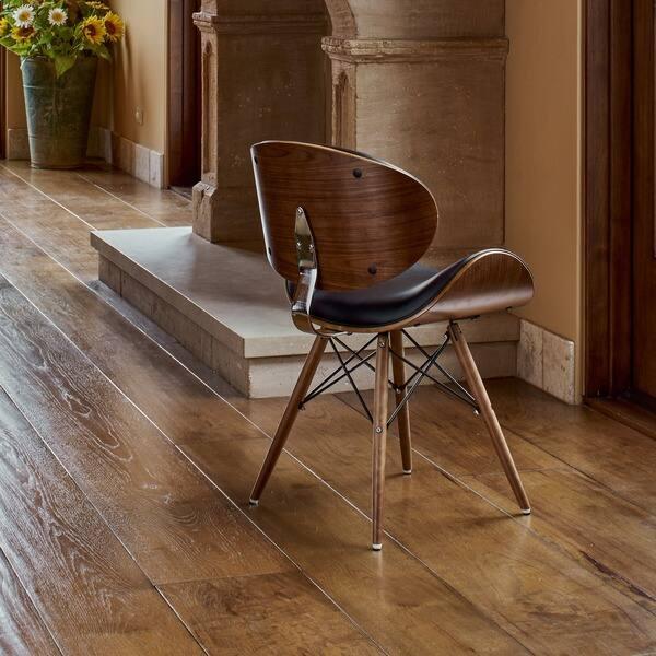 Astonishing Shop Corvus Madonna Mid Century Walnut And Black Finish Short Links Chair Design For Home Short Linksinfo