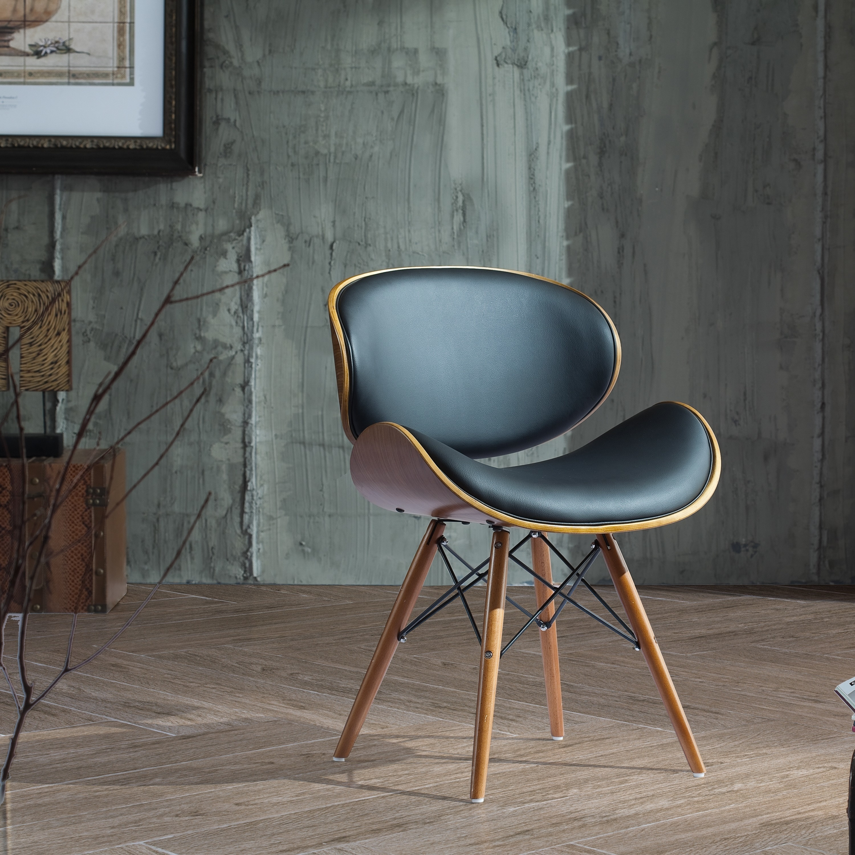 30 Inch Chair with Walnut and Black Color Finishes (2 options available)