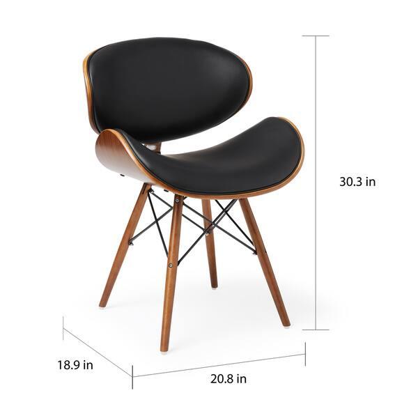 Brilliant Shop Corvus Madonna Mid Century Walnut And Black Finish Short Links Chair Design For Home Short Linksinfo
