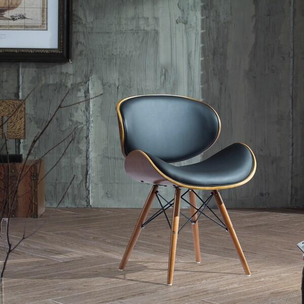 Corvus Madonna Mid Century Black And Walnut Accent Chair