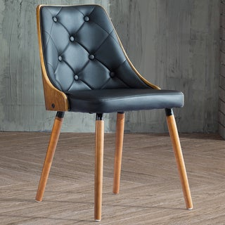 Corvus Rockland Walnut and Black Color Finished 30-inch Chair