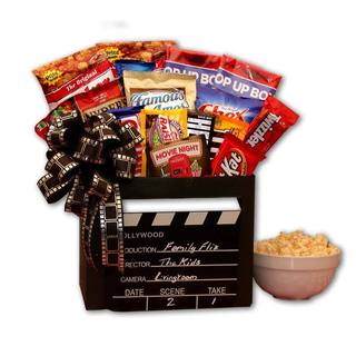 Family Flix Movie Night Gift Box with 10.00 Redbox Gift Card - black