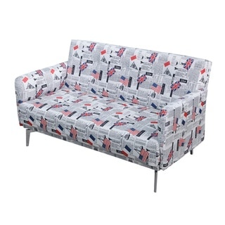 Emma Print Pattern Fabric Modern Loveseat (Modern & Contemporary)