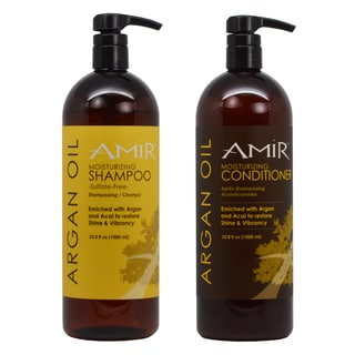 Amir Argan Oil Sulfate Free 33.8-ounce Shampoo and Argan Oil 33.8-ounce Conditioner Set