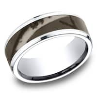 Men's 8mm Cobalt Ring with Camo Center