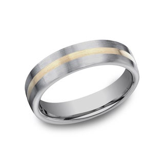 Men's 4mm Titanium Ring with 18k Yellow Gold Center