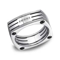 Men's 7.5 Millimeter Square Titanium Ring