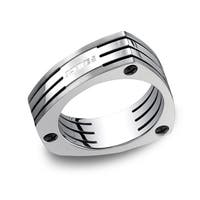 Men's 7.5mm Triangular Titanium Ring