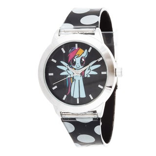 My Little Pony Girls Watch / Silver Case with Black Rubber Strap