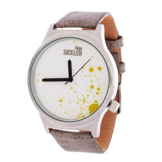 Van Sicklen Men's Grey Paint Dial / Silver case with Grey Leather Strap Watch