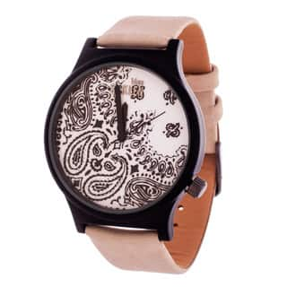 Van Sicklen Men's Paisley Dial / Black Case with Grey Leather Strap Watch|https://ak1.ostkcdn.com/images/products/10736736/P17793011.jpg?impolicy=medium