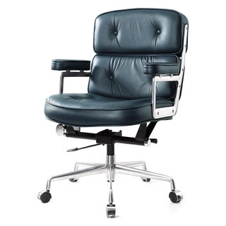 M340 Navy Italian Leather Office Chair