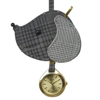 Dakota Women's Moxie Grey Plaid Dog Hanging Purse Charm Clock|https://ak1.ostkcdn.com/images/products/10736742/P17793017.jpg?impolicy=medium