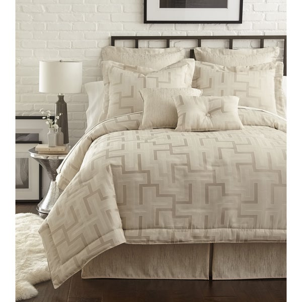 PCHF Maze Pearl Off-white 4-piece Comforter Set