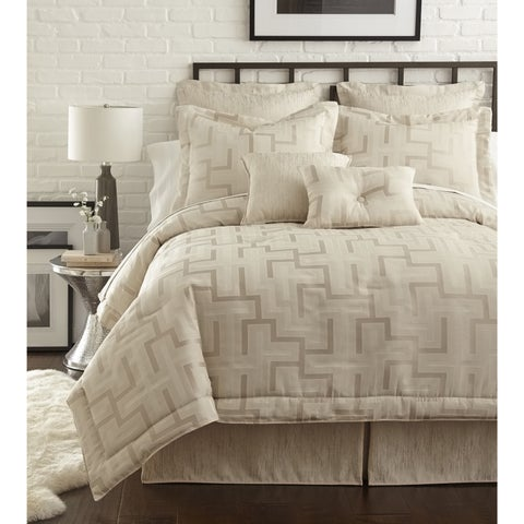 PCHF Maze Pearl Off-white 4-piece Comforter Set