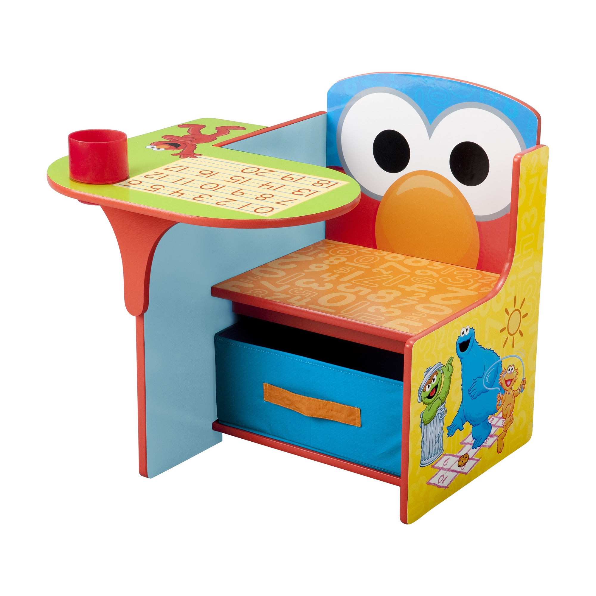 Surprising Sesame Street Chair Desk With Storage Bin By Delta Children Pdpeps Interior Chair Design Pdpepsorg
