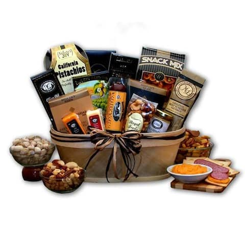Gourmet Nut and Sausage Gift Basket