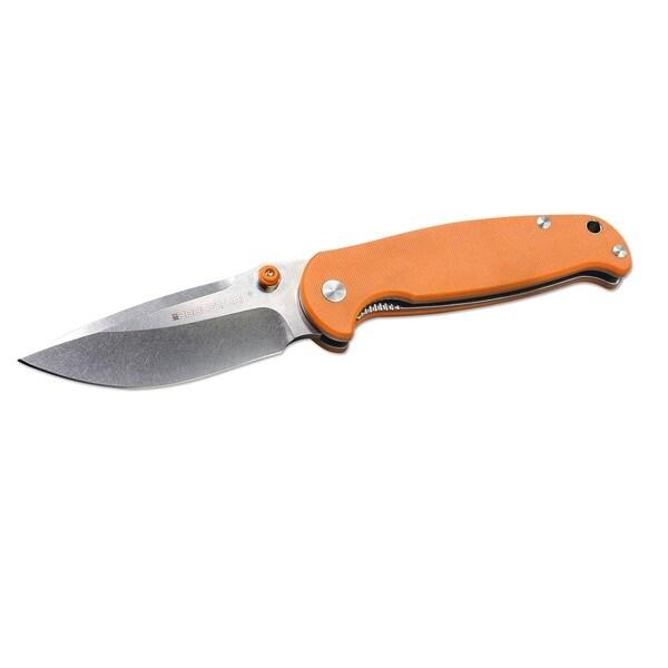 """Boker Real Steel H6 Pocket Knife 3-3/4"""" Blade, Orange"""