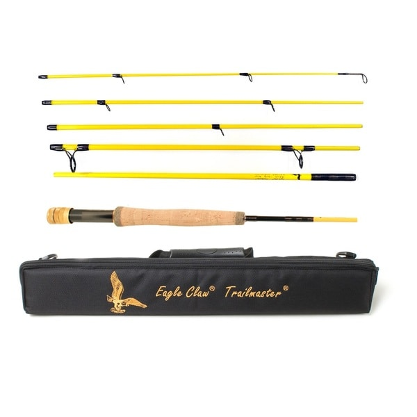 Eagle Claw Trailmaster Fly Rod 6 Piece 8ft 6in Medium Fast