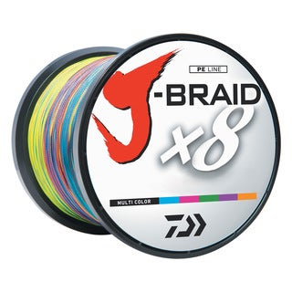 Daiwa J-Braid Multi-Color Fishing Line 1650 Yards