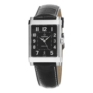 Eterna Men's 8492.41.44.1261 '1935' Black Dial Black Leather Strap Swiss Automatic Watch