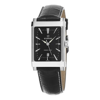 Eterna Men's 8491.41.41.1117D '1935 Histo' Black Dial Black Leather Strap Swiss Automatic Watch