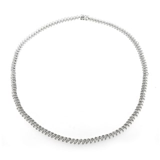 7/8ct TDW Diamond Tennis Necklace (H-I, SI1-SI2)