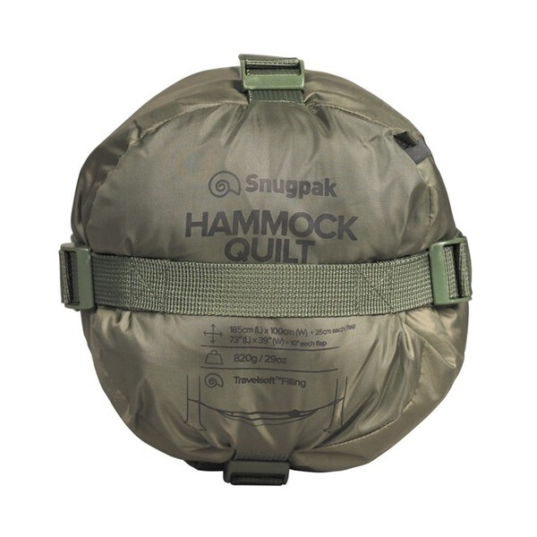 Snugpak Hammock Quilt with Travelsoft Insulation Olive