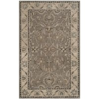 Safavieh Handmade Heritage Timeless Traditional Grey/ Beige Wool Rug - 5' x 8'