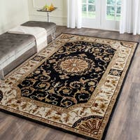 Safavieh Hand-Tufted Empire Black/ Ivory Wool Rug - 5' x 8'