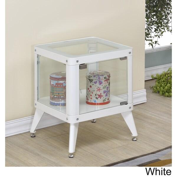 modern 1 furniture. furniture of america linden modern 1shelf metal cabinet free shipping today overstockcom 17793394 1