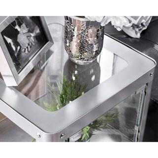 Furniture of America Linden Modern 1-Shelf Metal Cabinet