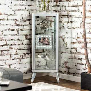 Furniture of America Linden Modern 3-shelf Metal Cabinet